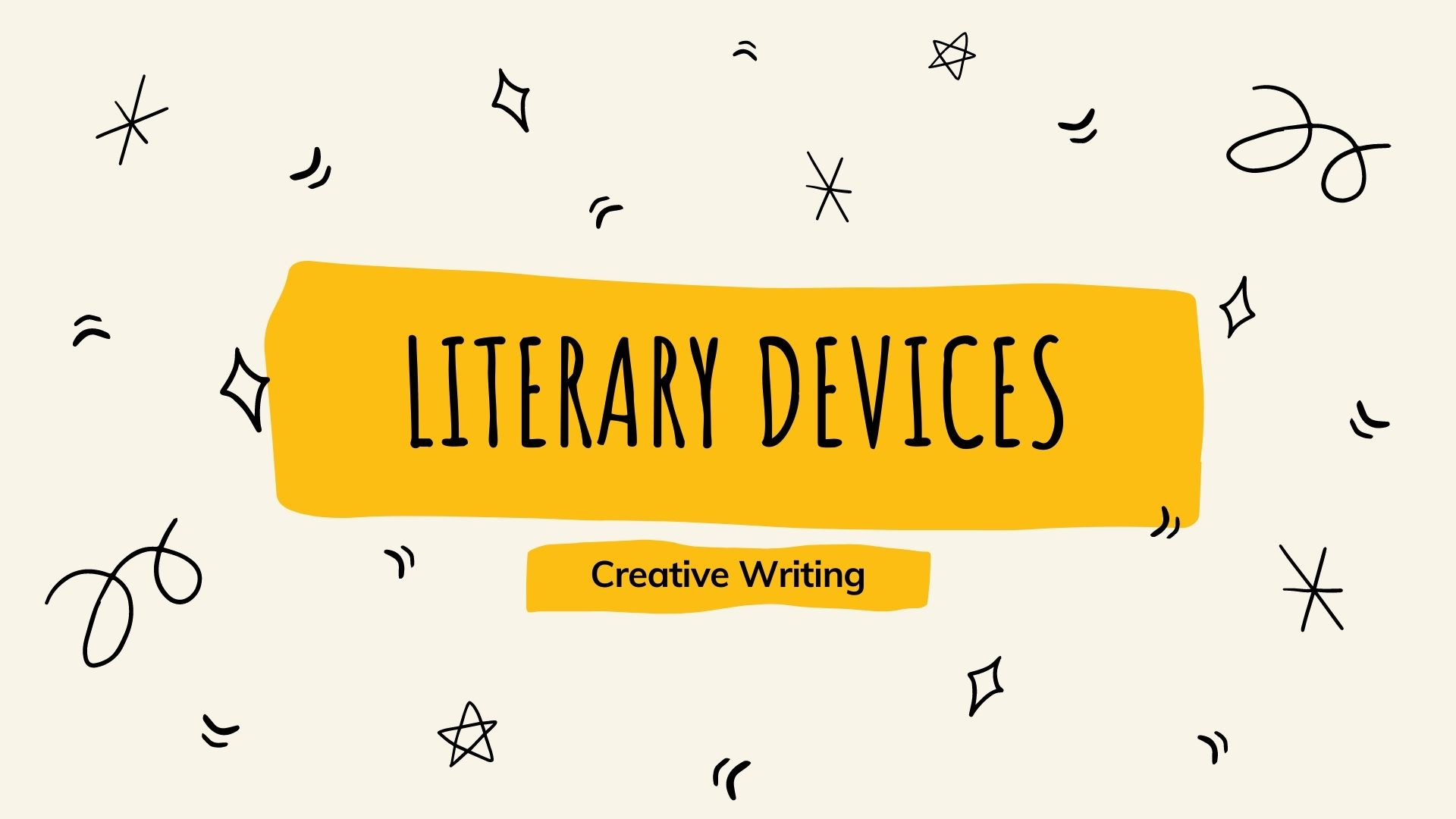 Creative writing Literary devices and the 10 most commonly used literary devices