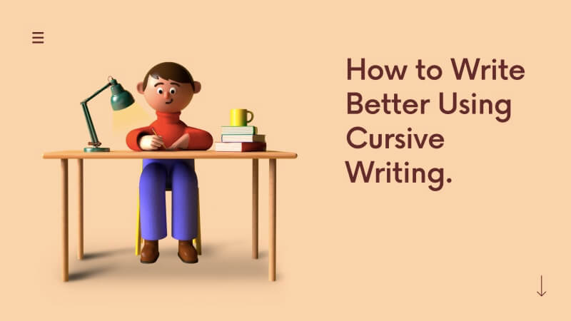 learn to write in cursive and improve handwriting with cursive writing