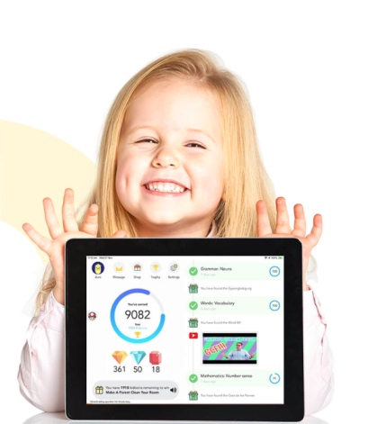 KidSmart is a learning app with games to keep the kids enagaged and motivated